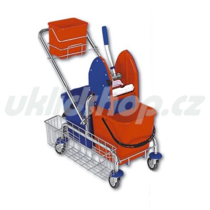 Dvojkbelíkový úklidový vozík DUO KOMPLET 2 x 17 l 21001CL