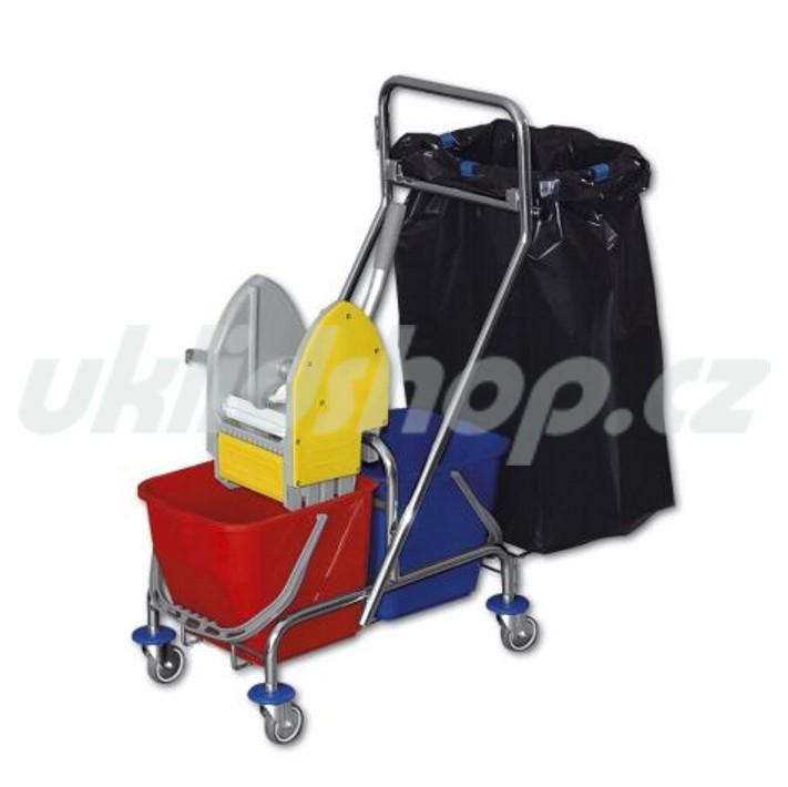 Dvojkbelíkový úklidový vozík CLAROL VAK