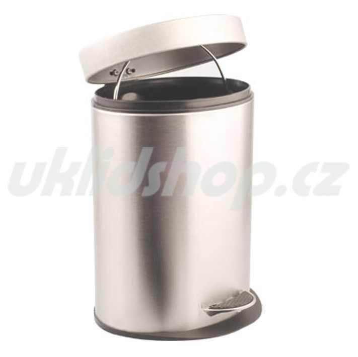 Nášlapný odpadkový koš oválný - NEREZ 5 l - poslední 1ks