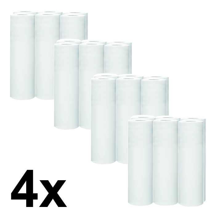 Papírová prostěradla 60/50 WHITE 12cm - pack 4x6ks
