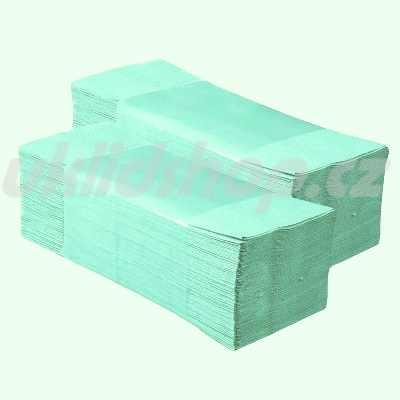 Papírové ručníky ZZ BASIC - zelené 5000 ks