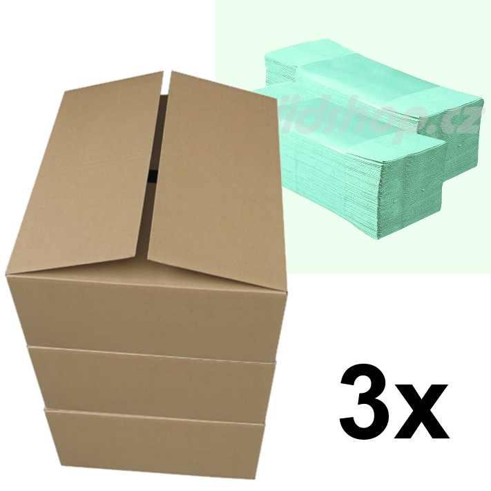 Papírové ručníky ZZ BASIC zelené - pack 3 x 5000 ks