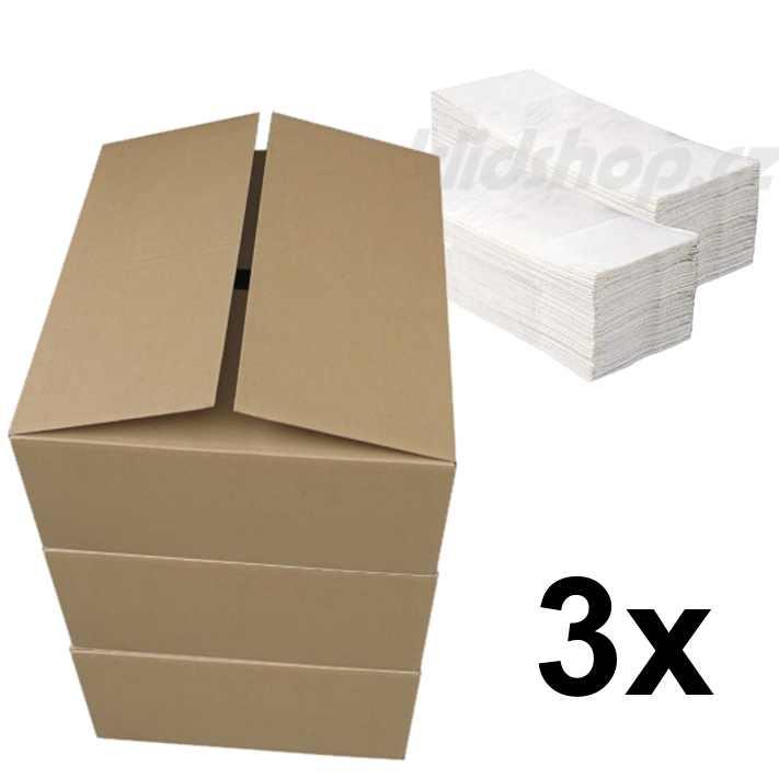 Papírové ručníky ZZ WHITE - bílé dvouvrstvé pack 3 x 3200 ks