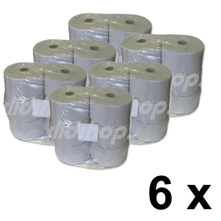 Toaletní papír JUMBO BASIC 19 cm - pack 6 x 6 rolí