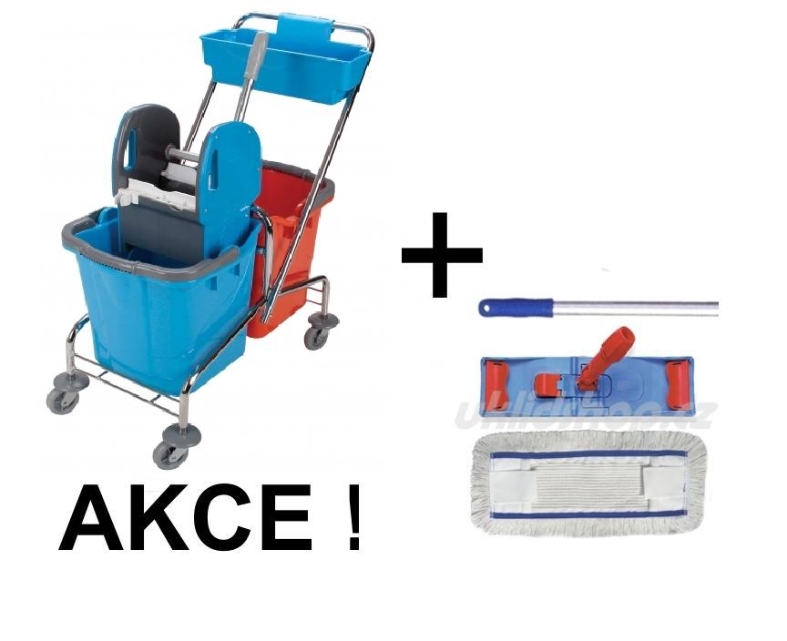Úklidový vozík DOUBLE 2 x 25 l + FLIPPER Mop sestava 40cm