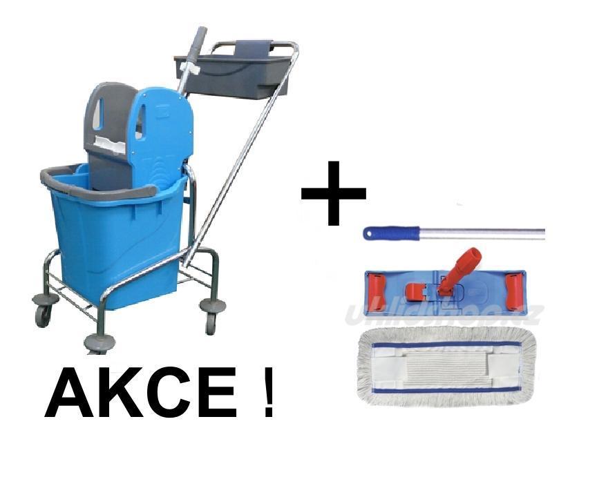 Úklidový vozík SINGLE 1 x 25 l + FLIPPER Mop sestava eco