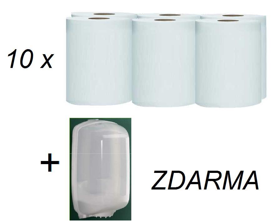 Pack papírových ručníků ROLL WHITE ECO 19cm, 10x6 rolí