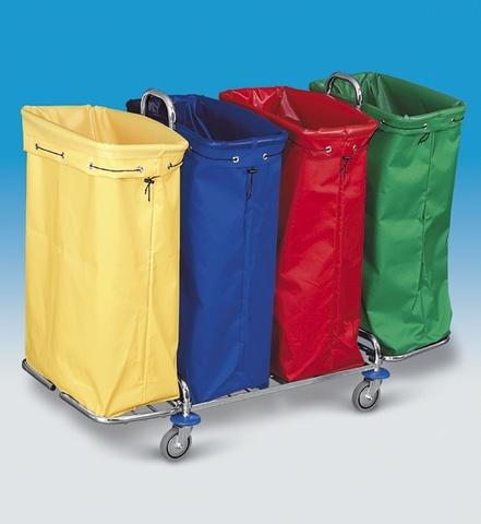Úklidový vozík KOMBI 24 KOMPLET - 4x120 l + 4 textilní vaky