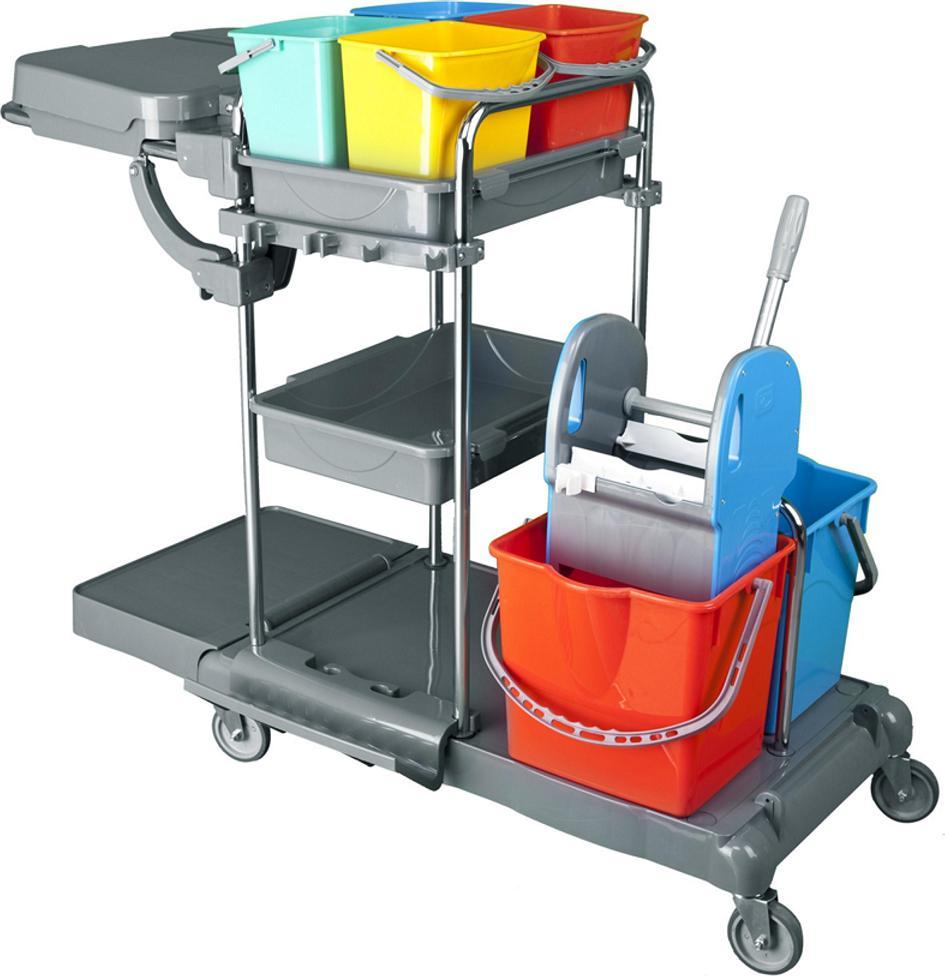 Dvojkbelíkový úklidový vozík COMPLETE 2x25 l