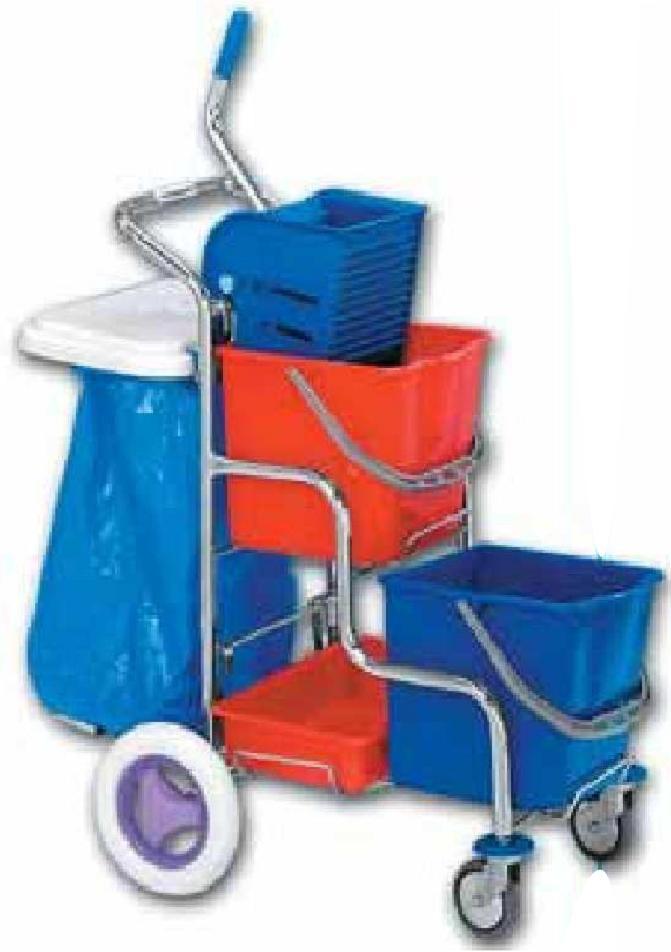 Dvojkbelíkový úklidový vozík DUO KOMBI