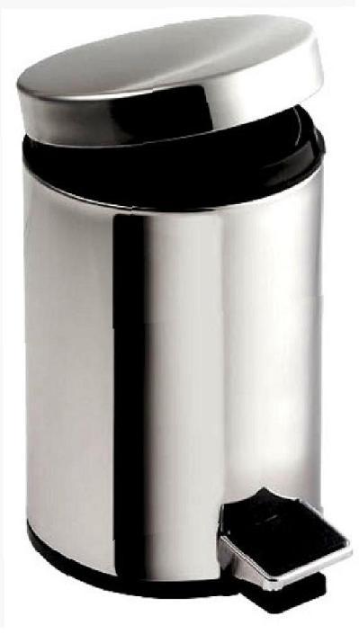 Nášlapný odpadkový koš kulatý leštěný - NEREZ 30 l