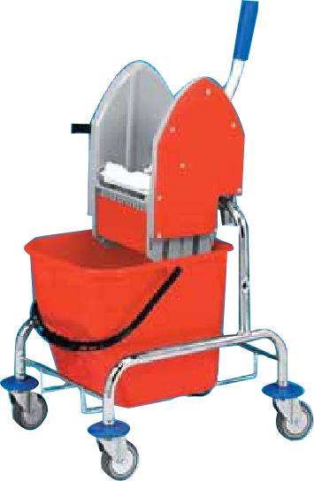 Jednokbelíkový úklidový vozík NEREZ 1x17 l
