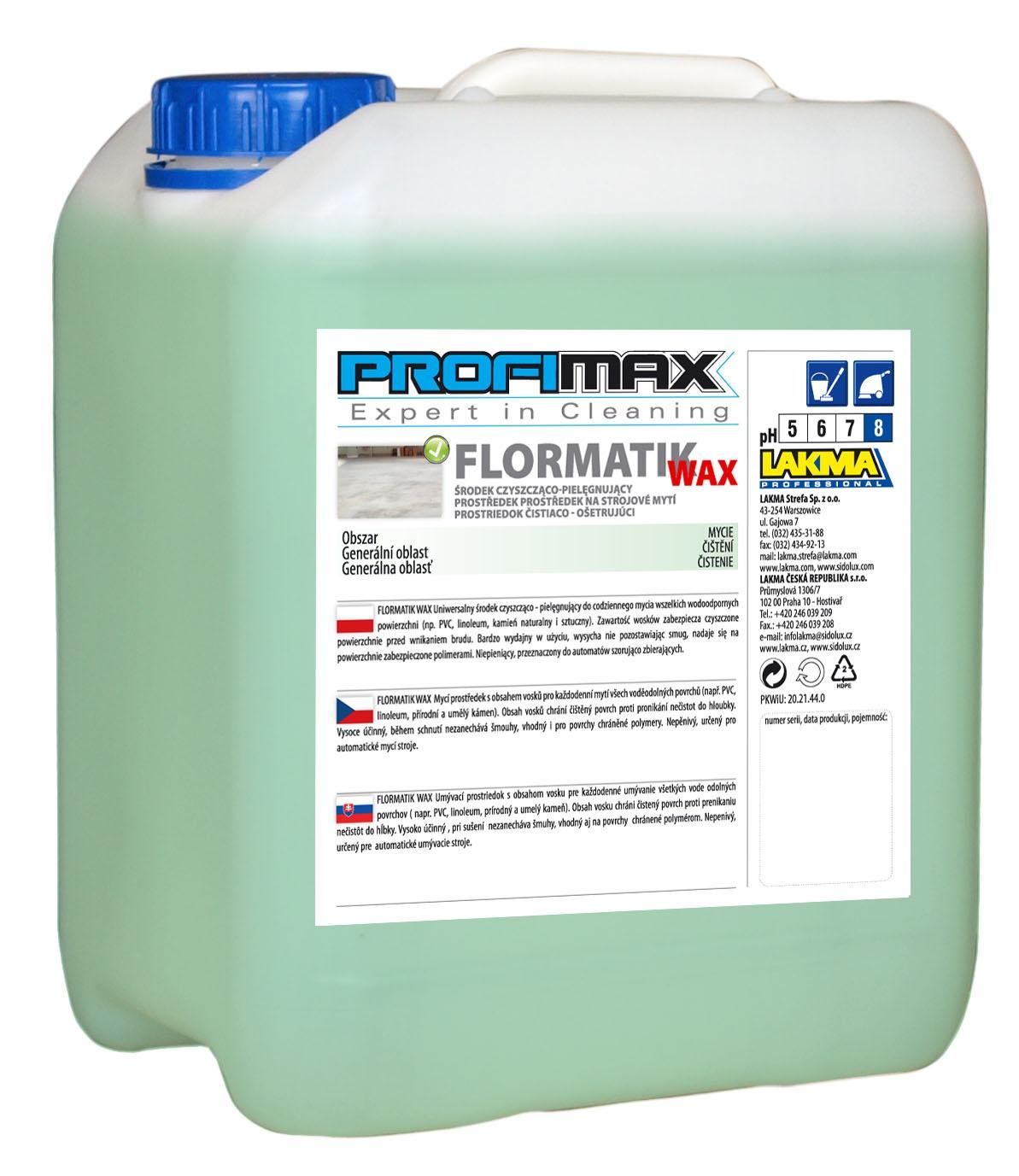 PROFIMAX FLORMATIK WAX - protiskluzový 5l
