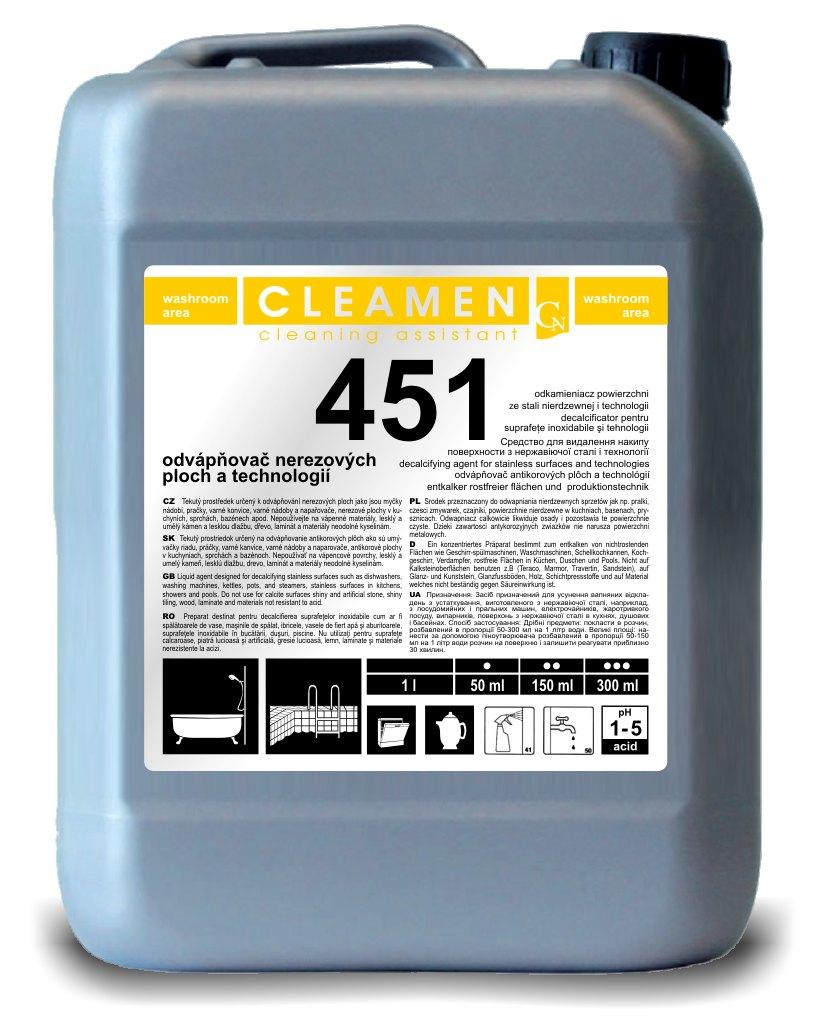 CLEAMEN 451 odvápňovač nerezových ploch 5 l