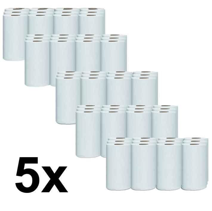 Papírové ručníky ROLL WHITE 13cm - pack 5 x 12 rolí