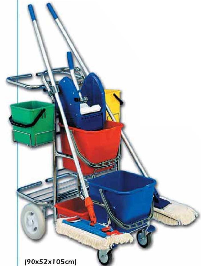 Dvojkbelíkový úklidový vozík TERRY LINE II
