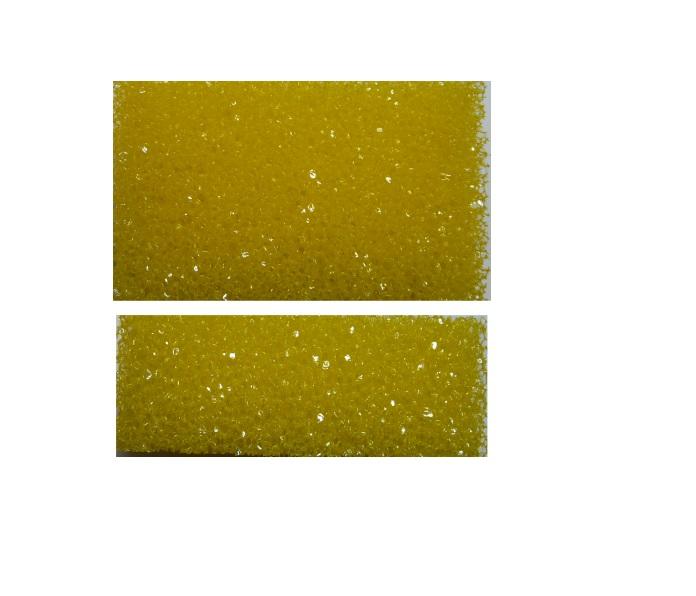 Houbička abrazivní 11x7x4 cm, žlutá