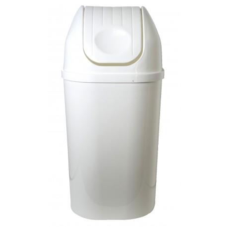 Koš odpadkový hranatý s víkem bílý 50l