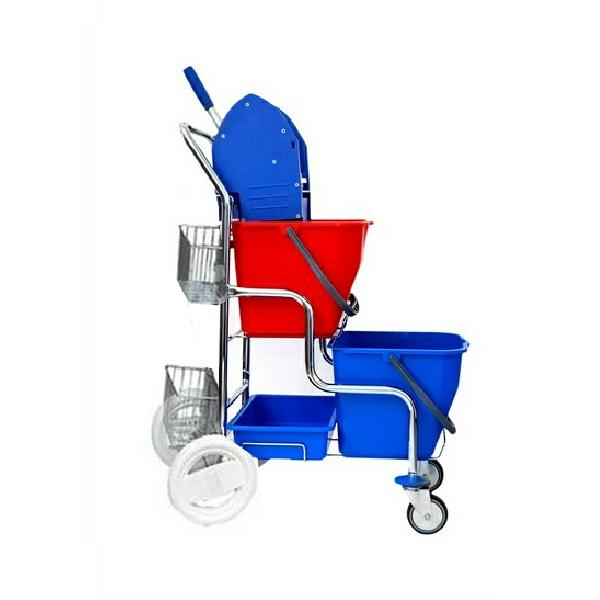 Dvojkbelíkový úklidový vozík DUO PRAKTIK