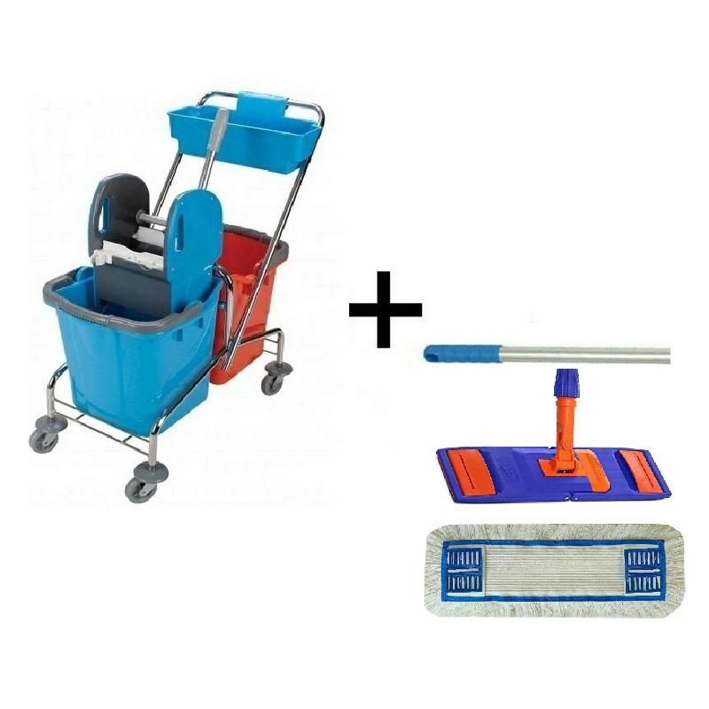 Úklidový vozík DOUBLE 2 x 25 l + Flipper mop sestava