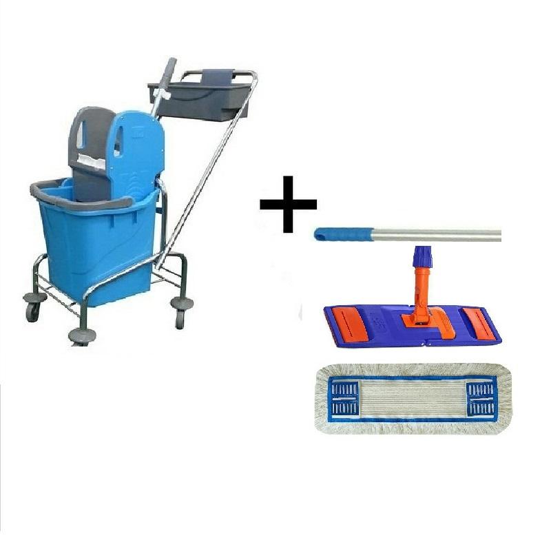 Úklidový vozík SINGLE 1 x 25 l + FLIPPER Mop sestava
