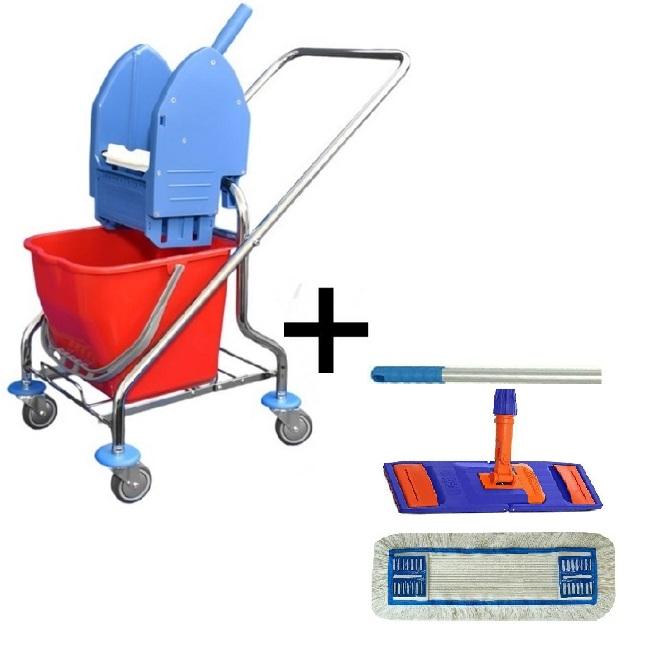 Úklidový vozík CLAROL 1 x 17 l + FLIPPER Mop sestava flipper MULTI