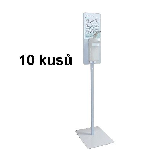 10x STOJAN na dezinfekce extra stabilní 15 kg s pákovým dávkovačem