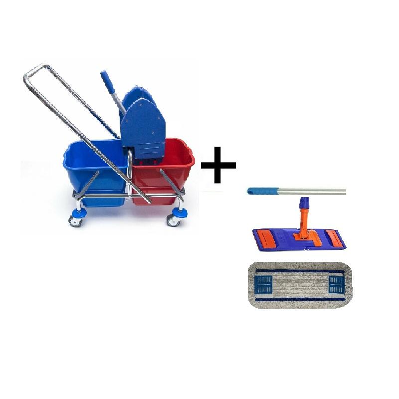 Úklidový vozík 2 x 17 l + FLIPPER Mop sestava