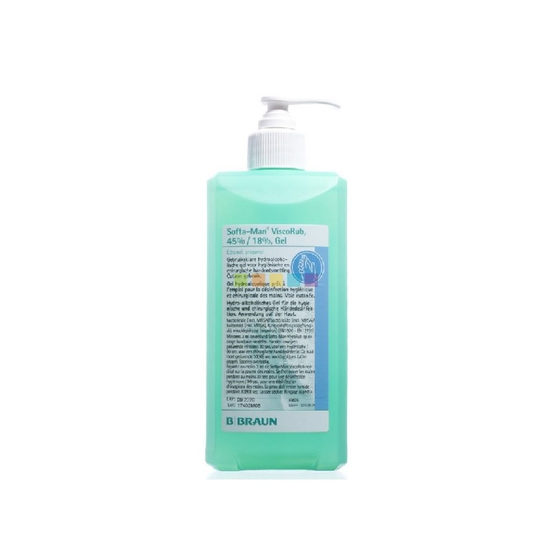 Dezinfekční gel SOFTA-MAN ViscoRub 500 ml s pumpičkou
