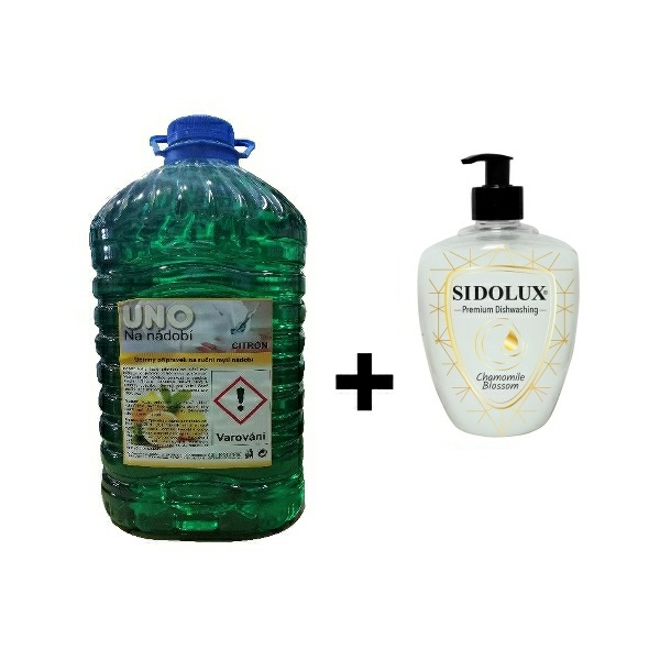 UNO citron na nádobí 5l + SIDOLUX na nádobí carambola 500 ml ZDARMA
