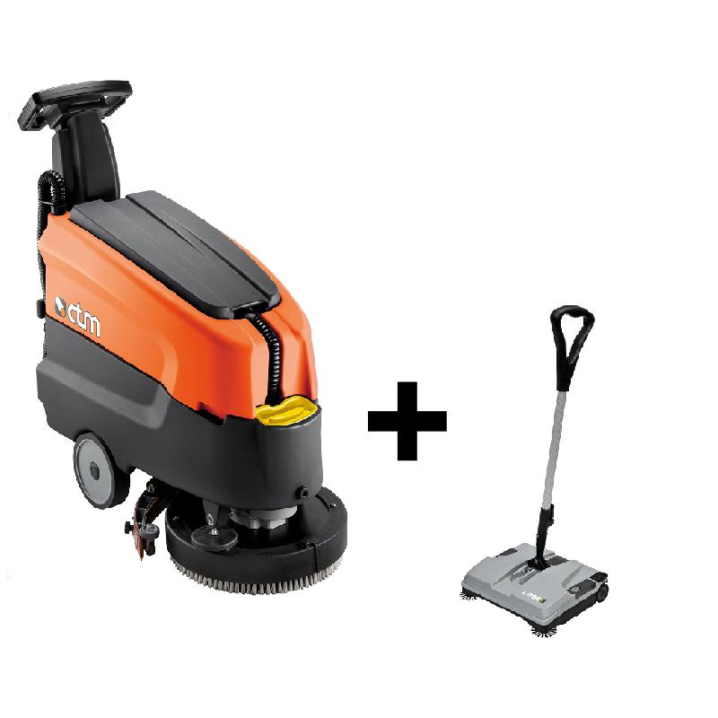 Podlahový mycí stroj LEONIS 45E+ bateriový zametač BSW 375ET