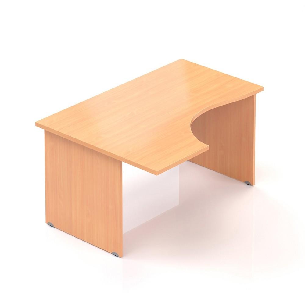 Ergonomický stůl V-line 140 x 100 cm, levý, Buk