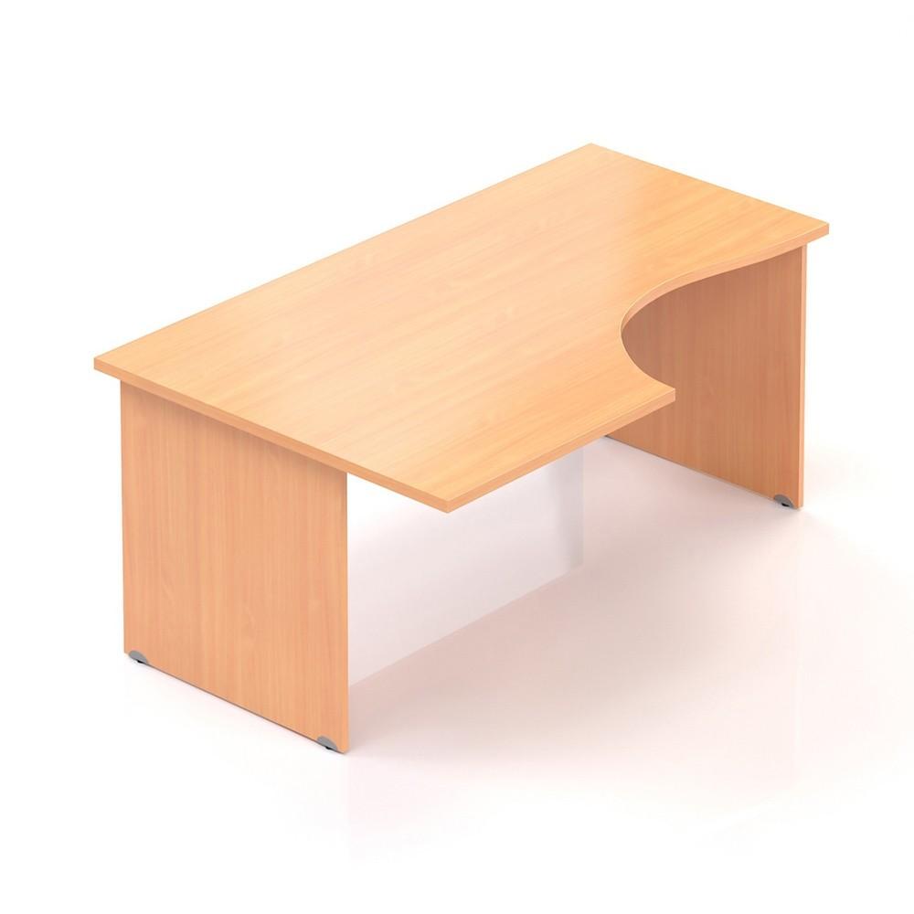 Ergonomický stůl V-line 160 x 100 cm, levý, Buk