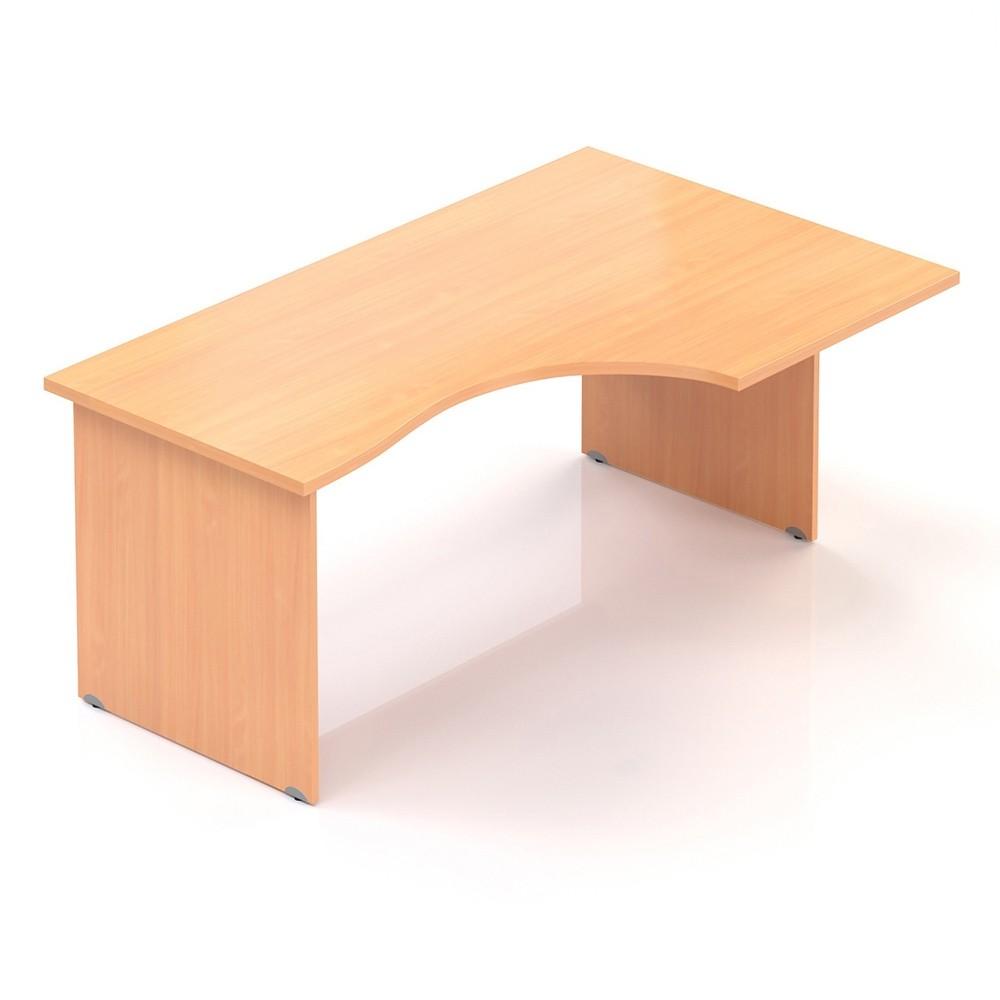 Ergonomický stůl V-line 160 x 100 cm, pravý, Buk