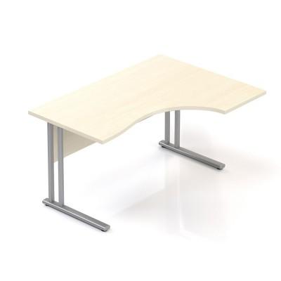 Ergonomický stůl V-line 140 x 100 cm, pravý, javor