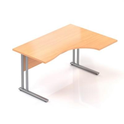 Ergonomický stůl V-line 140 x 100 cm, pravý, buk