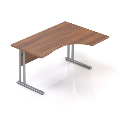 Ergonomický stůl V-line 140 x 100, pravý, ořech