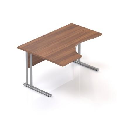 Ergonomický stůl V-line 140 x 100, levý, ořech