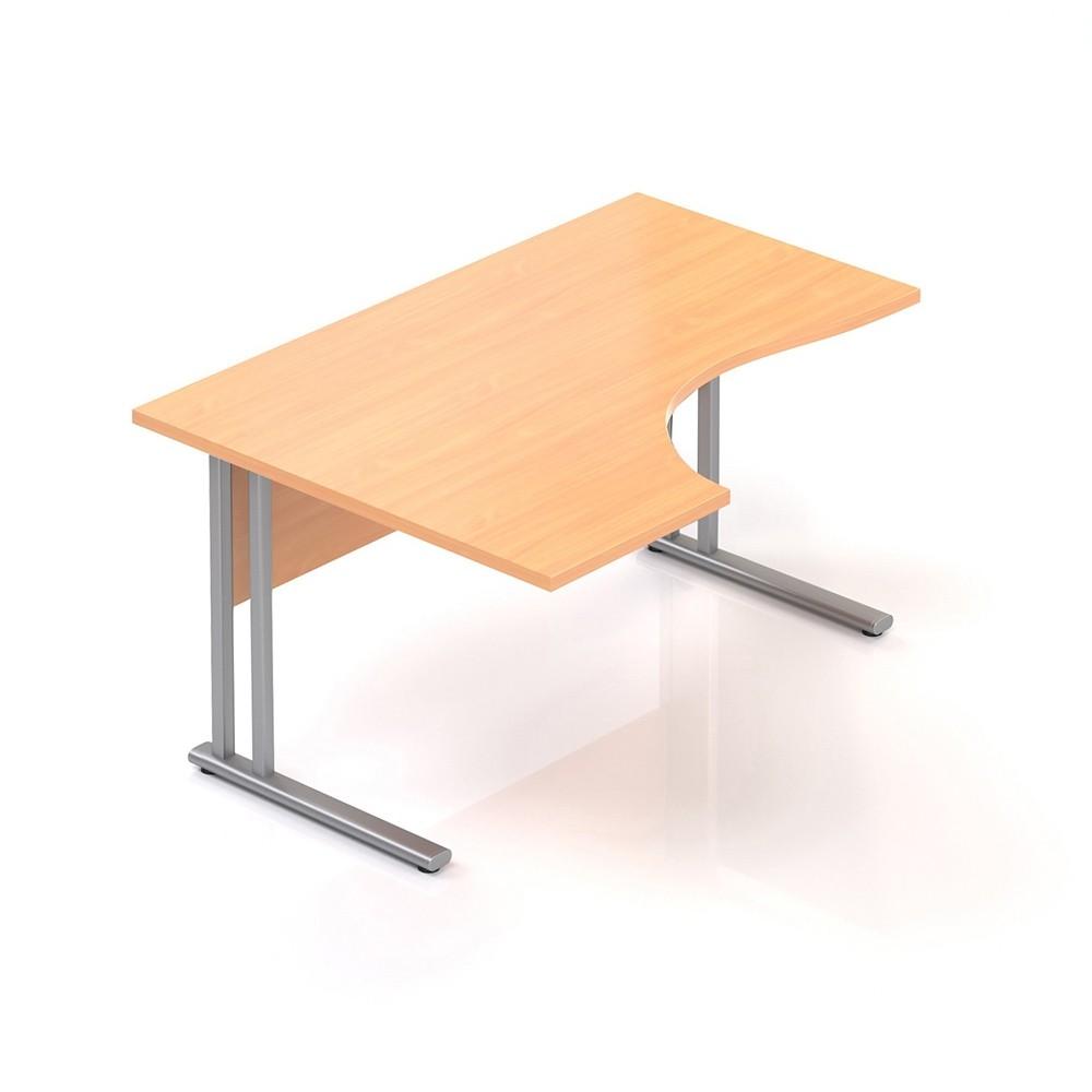 Ergonomický stůl V-line 140 x 100, levý, buk